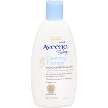 AVEENO Baby Cleansing Therapy Moisturizing Wash 8 oz (Pack of 2)