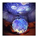 TOURACE Star Night Light for Kids, Universe Projection Romantic Projection Lamp Starry Constellation Birthday Christmas Gift Projector Lamp for Bedroom- 6 Sets of Film -The Galaxy Projectors.