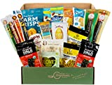KETO FRIENDLY SNACKS BOX [20 Count] Ultra Low Carb Snacks, Low Sugar, Gluten Free Healthy Snacks Gift Basket SHIPS FAST! | Sympathy, Get Well, Quarantine, Father's Day Gift Basket | Best Keto Snacks