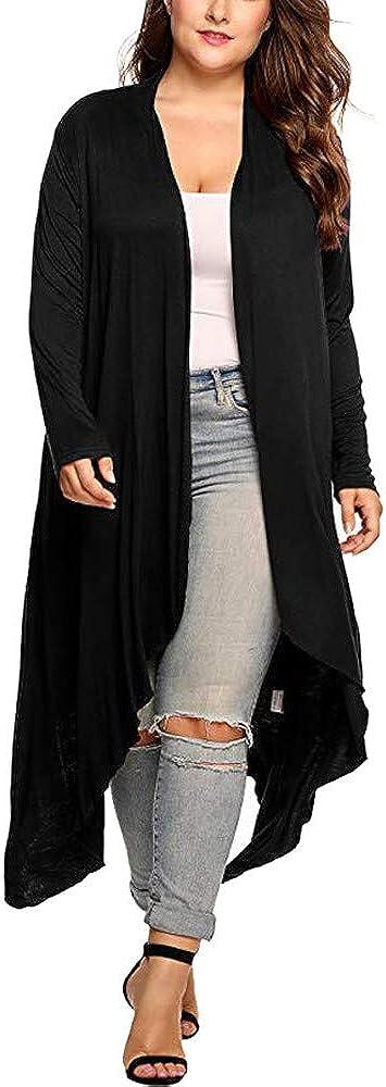 LISTHA Waterfall Open Front Maxi Cardigan Plus Size Women Drape Open Front Coat