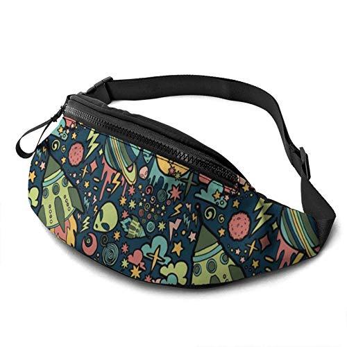 KKLDOGS Bolsa de cintura con diseño de cisnes para hombres y mujeres, bolsa de cinturón de fitness con bolsillo ajustable, correa informal para entrenamiento, correr, caminar, viajar