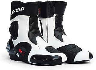 Impermeabile Moto Breve Stivaletti Motocross Scarpe A Cavallo da Corsa Scarpe da Basket Traspirante,Verde,36 AIALTS Scarpe per Moto Ciclismo Uomo