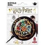 Logoshirt - Harry Potter - Hogwarts - Retro Fahrradklingel Groß - aus massivem Stahl - Schwarz - Lizenziertes Original Design