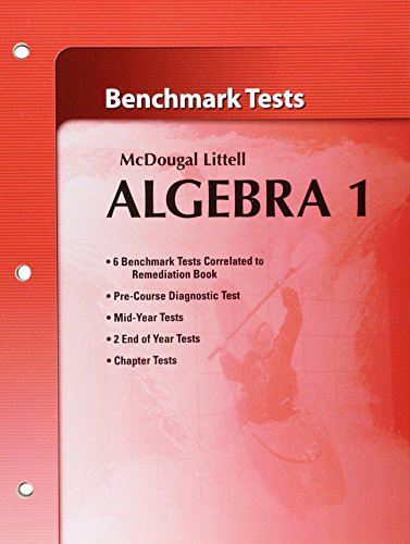 Holt McDougal Larson Algebra 1: Benchmark Tests