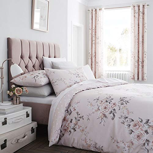 Catherine Lansfield Canterbury Easy Care Single Duvet Set Blush
