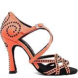 Manuel Reina - Zapatos de Baile Latino Mujer Salsa Competition 01 Mara Party - Bailar Bachata, Salsa, Kizomba (38 EU, Tacón: 9)