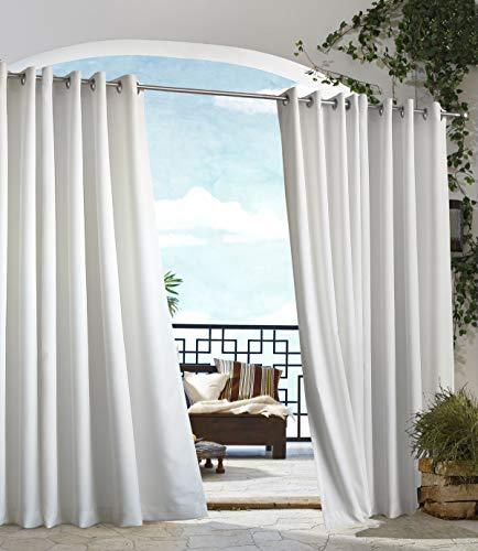 extérieur Décor Tonnelle Intérieur Extérieur Panneaux de fenêtres, 50 par 96, Blanc