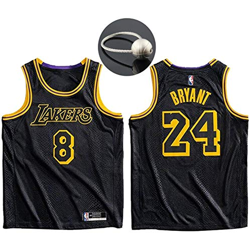 Camiseta de Baloncesto Kobe Bryant, Los Angeles Lakers # 8# 24 Jersey Ropa Deportiva, The Black Mamba Conmemorative Edition Camiseta sin Mangas Unisex Camiseta Deportiva-S