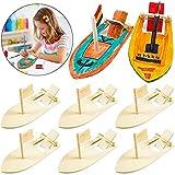 BESTZY 8 PCS Mini Velero Diy,Mini barco de madera de bricolaje, juguetes educativos,Madera Pequeño Rompecabezas Modelo de Barco Dibujo Velero de Madera Set para Niños Escuela Proyectos de Bricolaje.