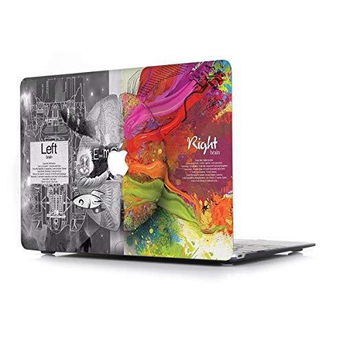 L2W Funda Dura para MacBook Air 13,3 Pulgadas Modelo A1466/A1369 portátiles Accesorios de plástico Creativo Diseño Patrón Cerebro Rígida Carcasa