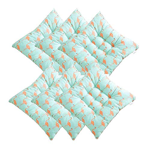 XNDCYX Chair Cushion, Patio Furniture Cushions, Indoor Outdoor Decorative Square Shaped Chair Cushion, with Ties for Non Slip, Comfort and Softness (6 Pack, 40X40cm),B