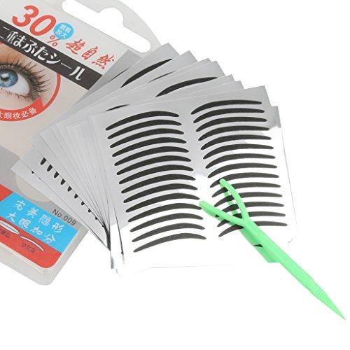 perfeclan 168 Paires Papier Noir Invisible Double Paupière Bande Oeil Autocollants Maquillage