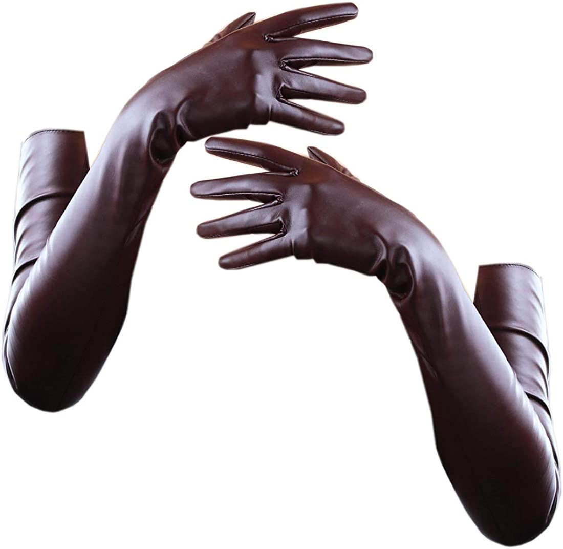 TECH LONG GLOVES Faux Leather PU/Suede 28