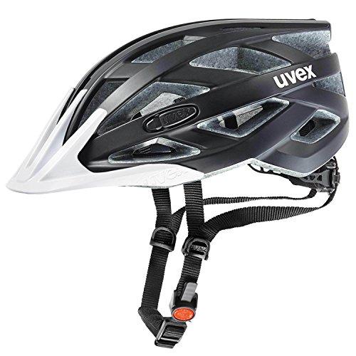 Uvex Fahrradhelm i-vo cc, Black-White mat, 56-60 cm