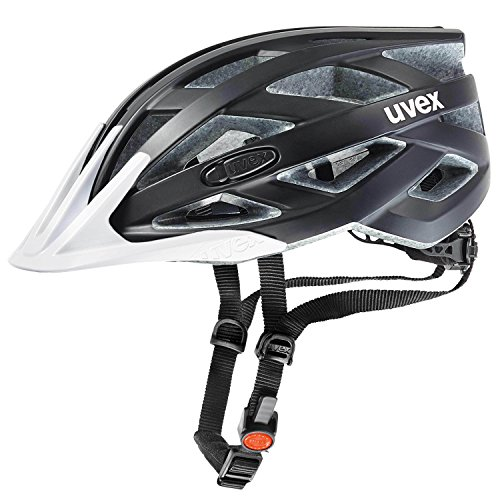 Uvex Fahrradhelm i-vo cc, Black-White mat, 52-57 cm