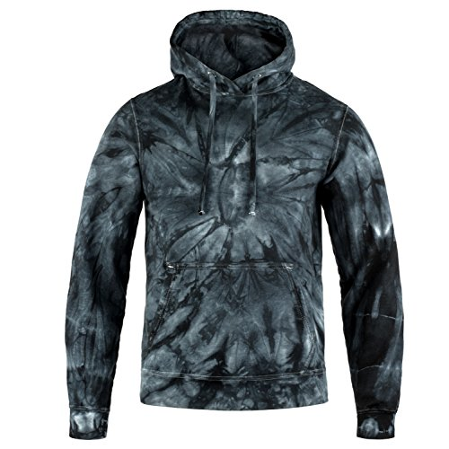 Magic River Tie Dye Hooded Sweatshirt - Black Cyclone - Adult Small Hoody