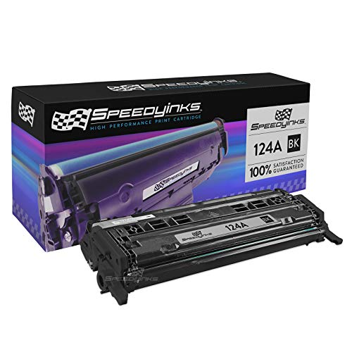 Speedy Inks Remanufactured Toner Cartridge Replacement for HP 124A Q6000A (Black)