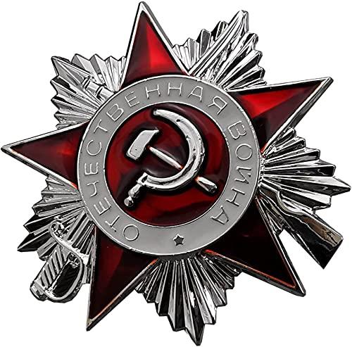 FTYYSWL Medalla de la Segunda Guerra Patriótica Soviética, Mini Insignia de Pin de Metal de la Orden de la Guerra Mundial, Decoración Militar Soviética, Réplica, Regalo