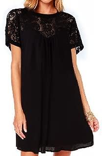 Women's Lace Loose Casual Chiffon Dress
