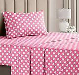Polka Dot Sheets, Girls Sheets, Kids Sheets, Twin Size Kids Sheets, Toddler Sheets, Toddlers Sheets for Twin Beds, Fun Kids Sheets, Teen Bed Sheet Set, Fun Toddler Sheets, Children Sheets, Girly Sheet
