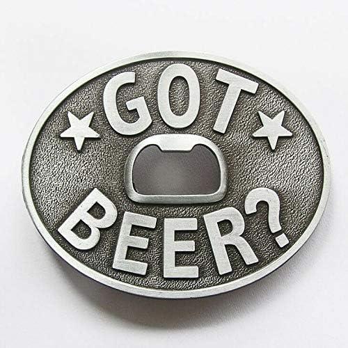 Stylish Design and Reliability Got Beer Bottle Opener Oval Western Metal Novelty Belt Buckle product image