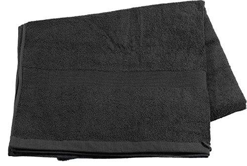Wilson Gabor Duschtuch: Saunatuch aus Baumwoll-Frottee 220 x 90 cm, schwarz (Mini Strandtuch)
