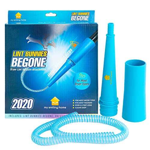 Dryer Lint Vacuum Attachment - Flexible Dryer Vent Cleaner Kit Attaches Easily to The Vacuum Hose of Most Vacuums - Also Cleans Your Washer, Refrigerator, and Other Home Appliances