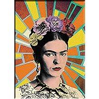 """FRIDA KAHLO MOSAIC RAYS FRIDGE MAGNET - Mexican Painter Frida Kahlo Decorative Artwork Fridge Magnet - 2.5"""" x 3.5"""""""