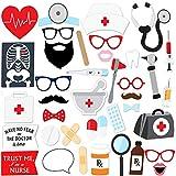 iMagitek 40 Pcs Nurse Graduation Party Photo Booth Props for Doctor Nurse Graduation & Retirement Party Supply