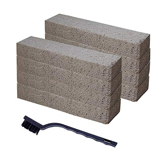8 Pack Pumice Stones for Toilet Cleaning Pumice Sticks Cleaning Stone Pumice Cleaning Pad for Toilet Bowl Pool Bath Kitchen Barbecue Cleaner