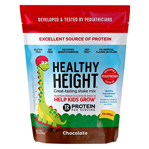 Healthy Height Kids Protein Powder (Chocolate) - Developed by Pediatricians - High in Protein Nutritional Shake to Supplement Child Growth - Contains Key Vitamins & Minerals to Gain Height & Weight