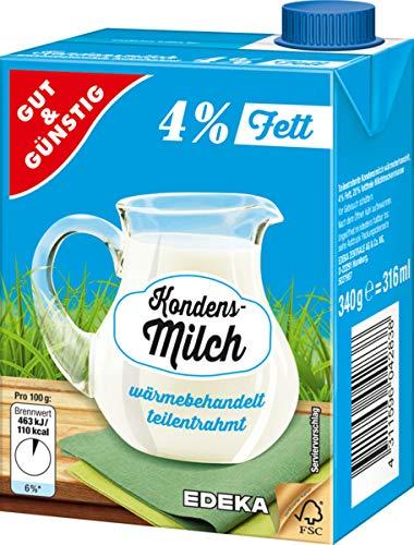 Gut und Günstig, Kondensmilch 4%, 16er Pack (16 x 340g)