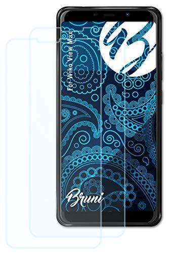 Bruni Schutzfolie kompatibel mit Wiko View Max Folie, glasklare Bildschirmschutzfolie (2X)