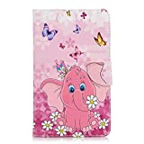 Coopay Rose Smart Cover Coque Tablette Samsung Galaxy Tab A6 7 Pouces 2016 (SM-T280/T285) avec Motif...