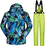 TIANYOU Chaqueta de Esquí Masculino Snowboard bis Chapa de Madera Invierno Traje de Esquiar Espesar Cálido Resistente Al Viento Traje de Nieve Saco Jacket Adecuado para Deportes Al Aire