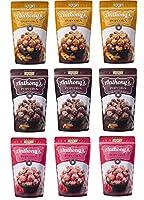 旭製菓 アンソニーズポップコーン チョコレート&アーモンド味 45g ストロベリー味 50g キャラメル&アーモンド味 45g ×各3袋ずつ 合計9袋セット