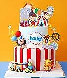 JeVenis 15 piezas de decoración de torta de circo, decoración de torta de circo, decorac...