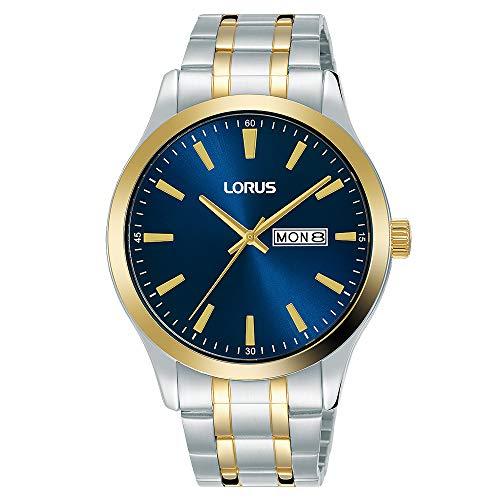 Seiko UK Limited - EU Reloj Analógico para Hombres de Cuarzo con Correa en Bañada en Oro RH342AX9