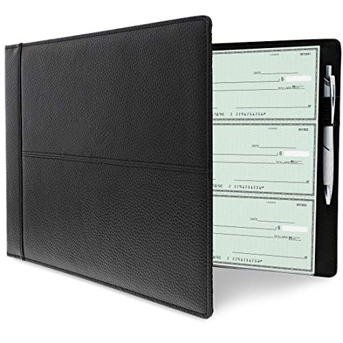 Juvale 7 Ring Business Check Binder, Holds 600 Checks, 3 on a Page, 14 x 2 x 10 Inches