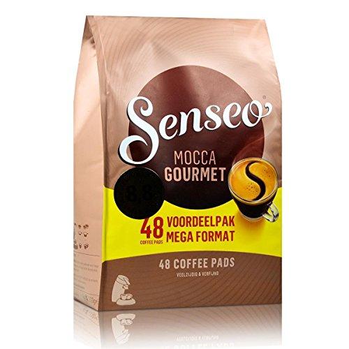 Senseo Kaffeepads Mocca Gourmet, Frisch & Intensiv, Kaffee für Kaffeepadmaschinen, 48 Pads
