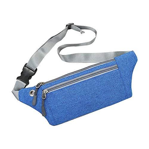 Bocotoer Sport Running Taille Tas Verstelbare Band Riem Fanny Packs voor Mannen Vrouwen, Blauw