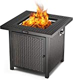 TACKLIFE Propane Fire Pit Table, 28 Inch 50,000 BTU...