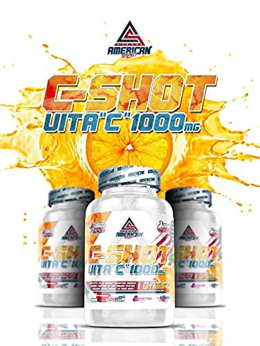 Vitamina C, CSHOT 1000mg, American Suplement, 120cap, vitaminas y minerales, mejora defensas, sistema inmunitario, reduce cansancio