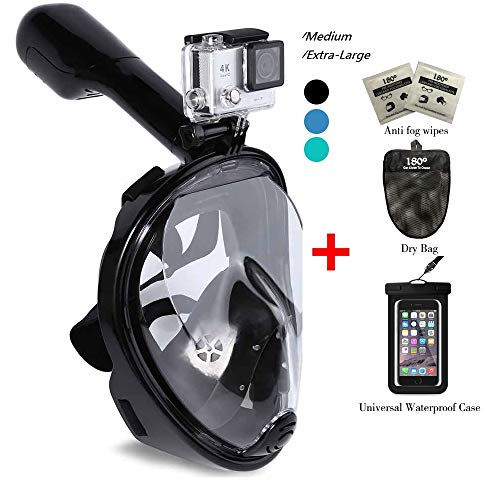180° Snorkel Mask View for Adults and Youth