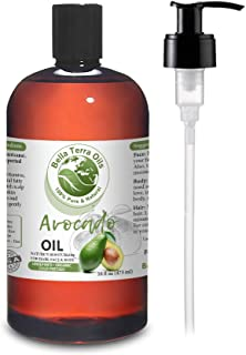 NEW Avocado Oil. 16oz. Cold-pressed. Unrefined. Organic. 100% Pure. Antioxidant-rich. Hexane-free. Fights Wrinkles and Sof...