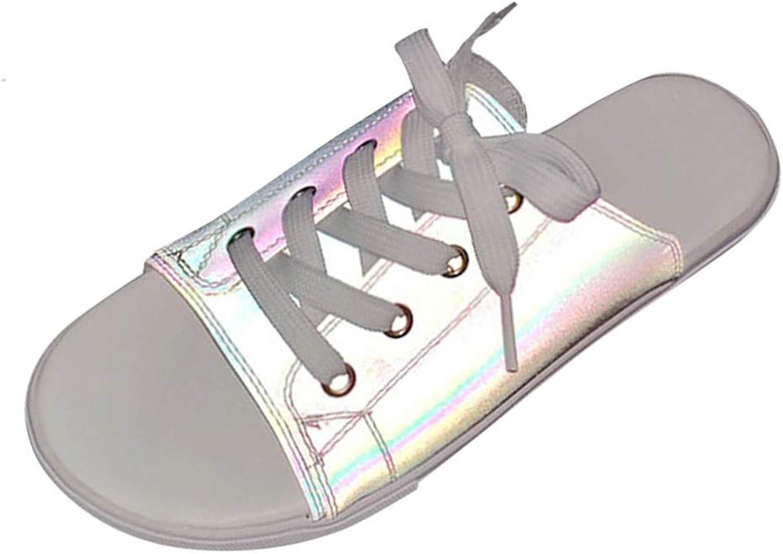 Sandals Women, Couple Illuminate shoes Slippers shoes Sandals Flat Beach shoes Fish Mouth shoes Wedding shoes