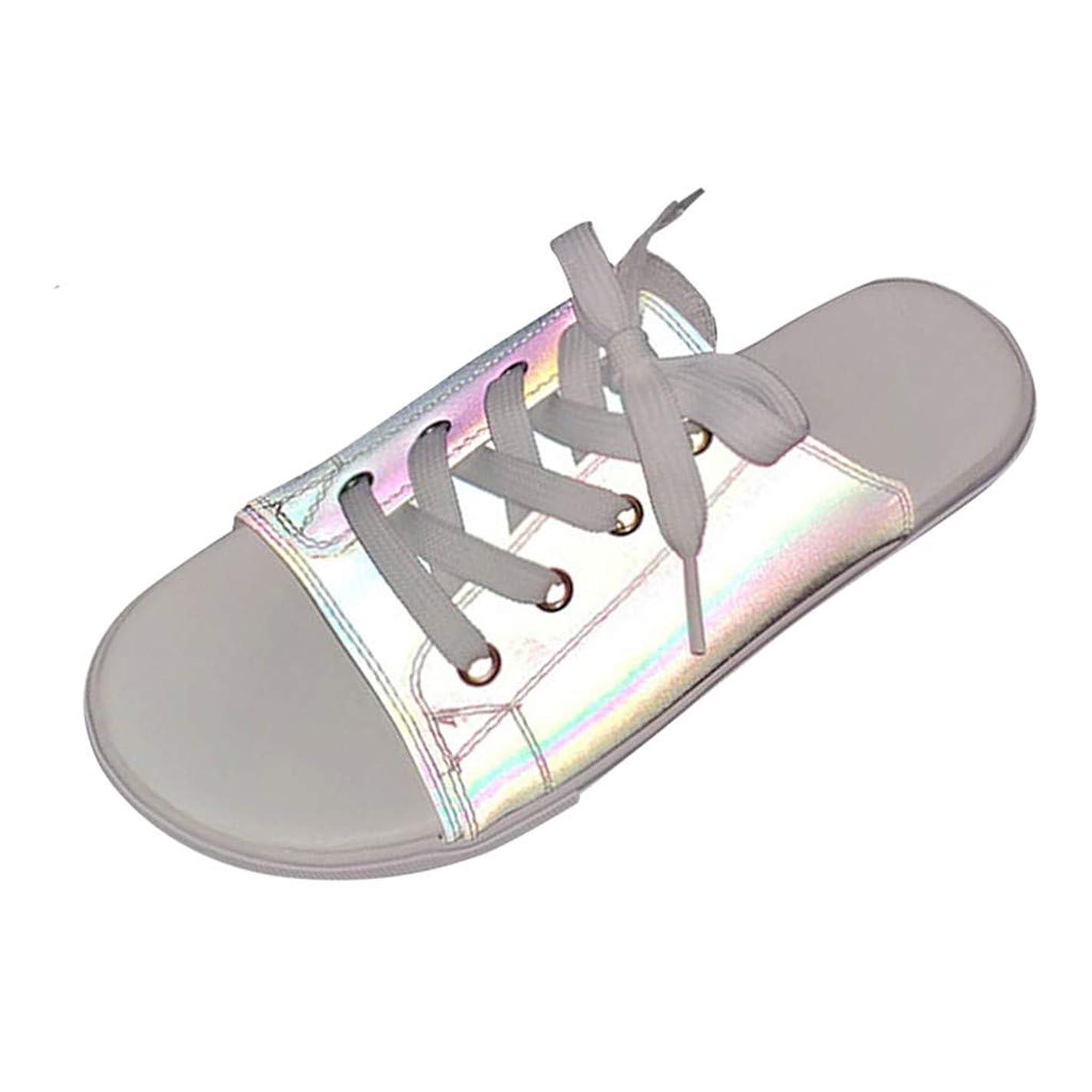 宙返り抵抗するラフレシアアルノルディカップルは靴を照らす スリッパシューズ サンダル フラットビーチシューズ 魚の口の靴 輝くサンダル フラットスリッパ レースアップビーチサンダル