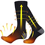 Heated Socks, Electric Heating Socks for Men Women, Heating Socks Rechargeable Battery Powered with 4500mAh Large Capacity Battery - Up to 18 Hours of Heat, Upgraded Heated Socks for Outdoor Sport
