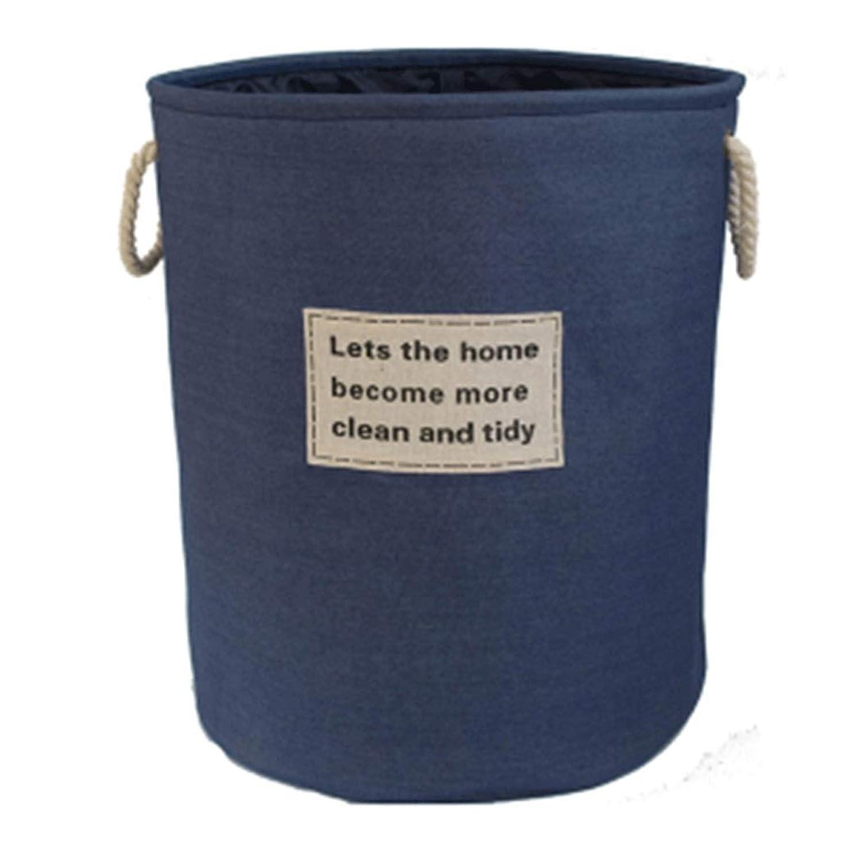 収納バケット洗濯バスケットエクストララージコットンリネンアート妨げる折りたたみ汚れた服収納バスケット付きスケルトン40 * 50 cm (色 : D, サイズ さいず : 40*50cm)