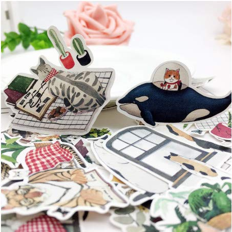 TTBH Hand Drawing Cat's Fantasies Sticker Planner Scrapbooking DIY Dry Glue Sticker26Pcs